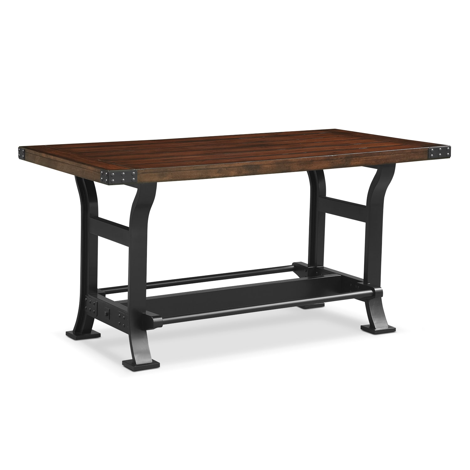 Newcastle counter height dining table mahogany for Best dining room table height