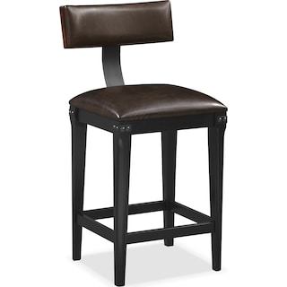 Newcastle Counter-Height Stool - Mahogany