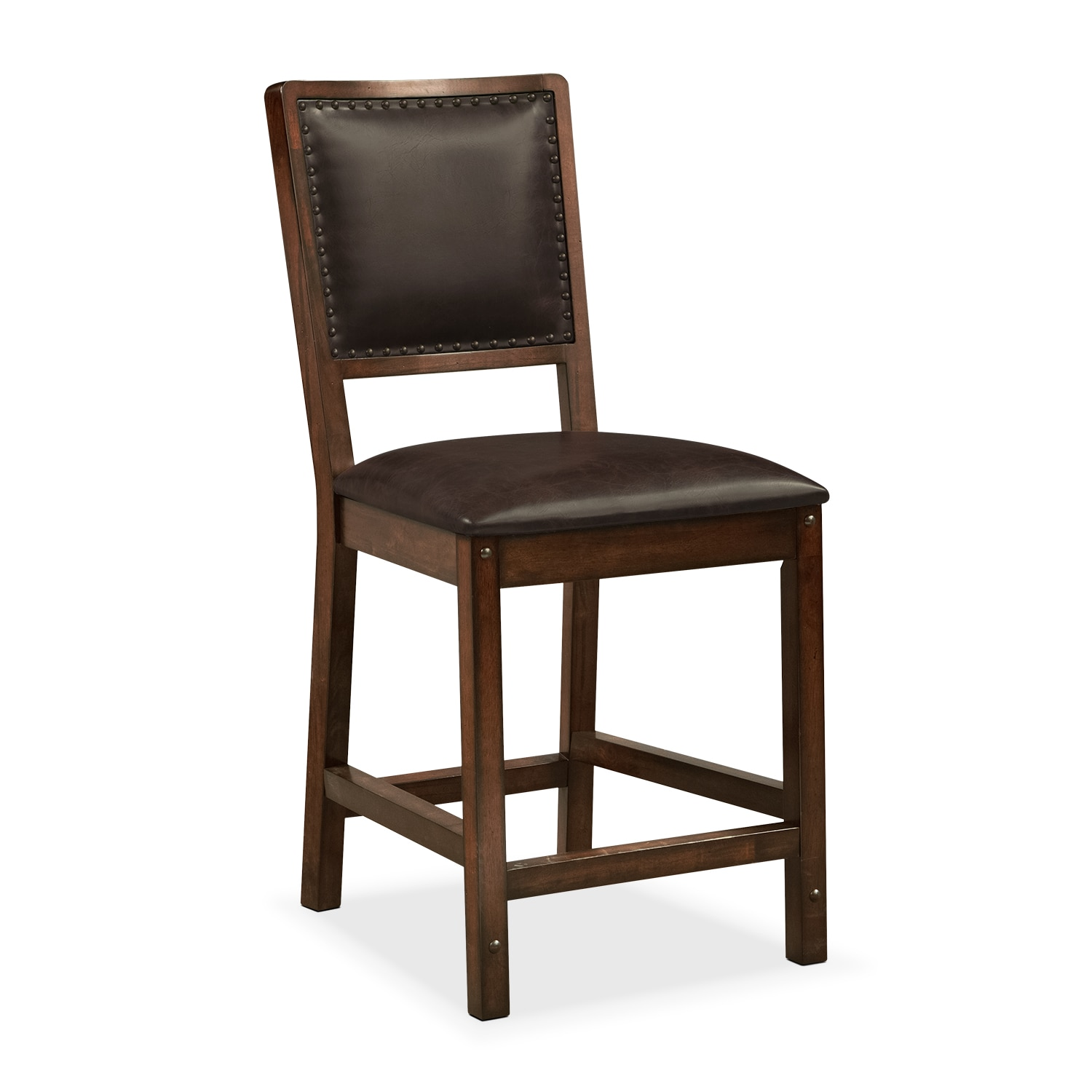 Dining Room Furniture - Newcastle Counter-Height Chair - Mahogany