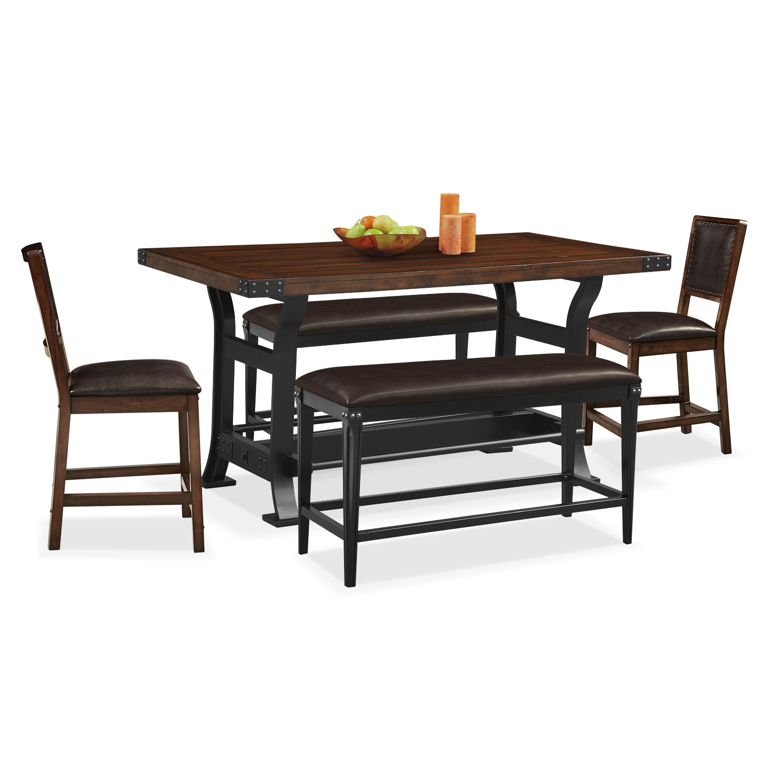 Dining Room Table For 2: Newcastle Counter-Height Dining Table, 2 Side Chairs And 2