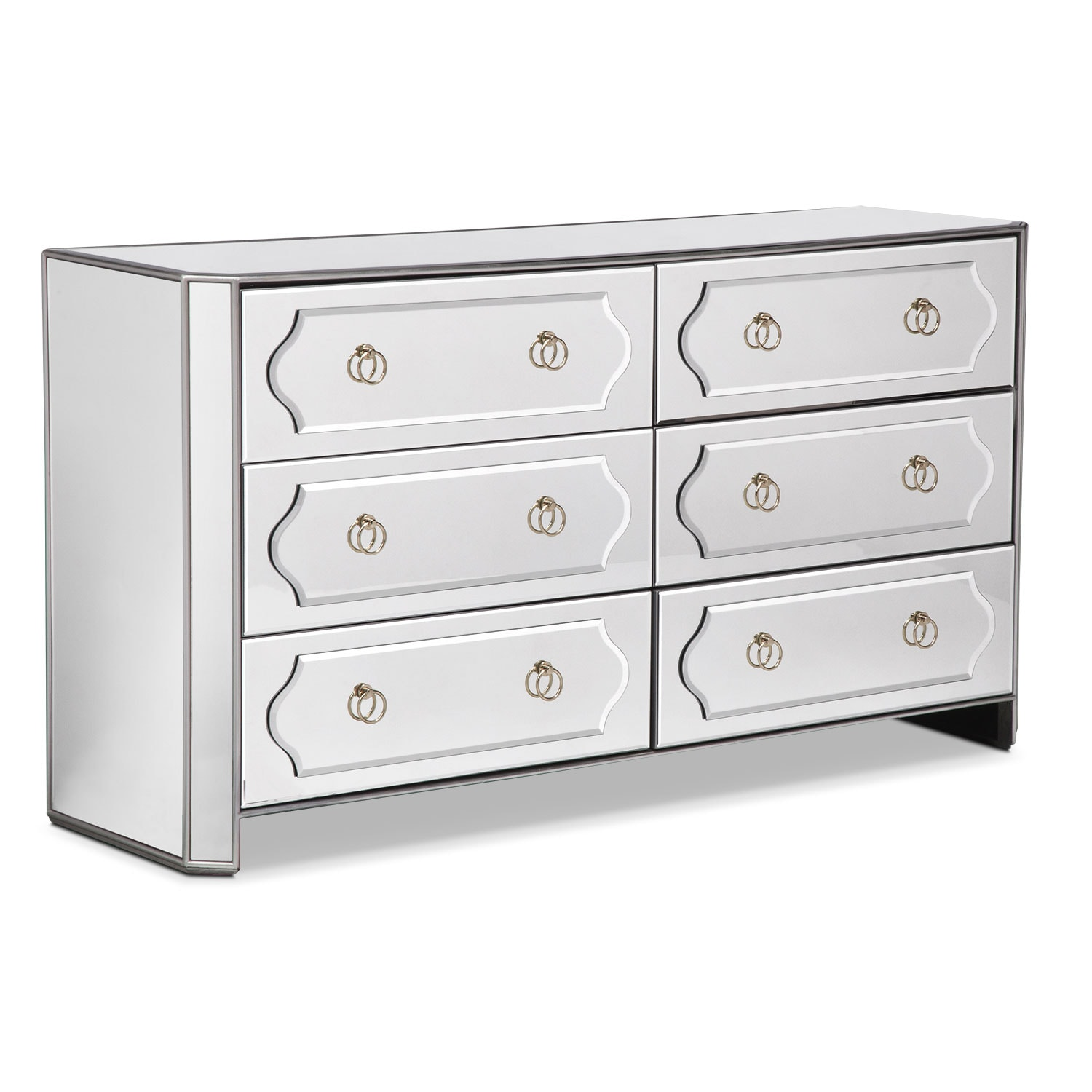 Bedroom Furniture - Harlow Dresser - Mirrored