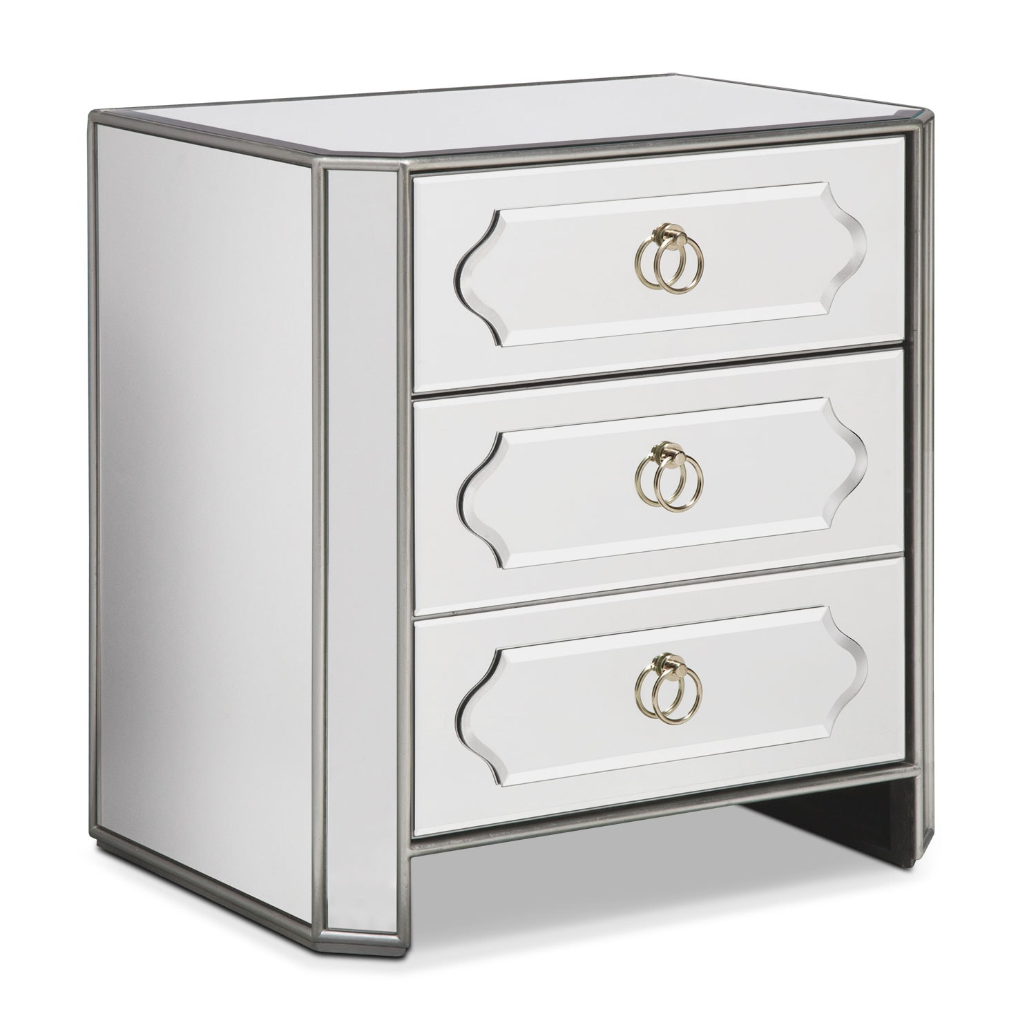 Harlow Bedside Chest - Mirrored