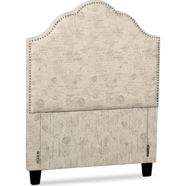 Bedroom Furniture - Maya Full Upholstered Headboard - Script