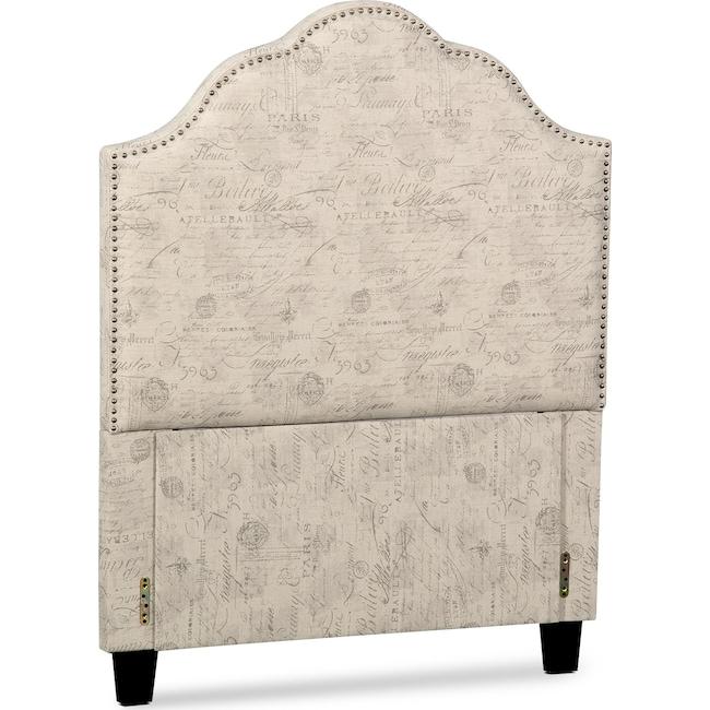Bedroom Furniture - Maya Twin Upholstered Headboard - Script