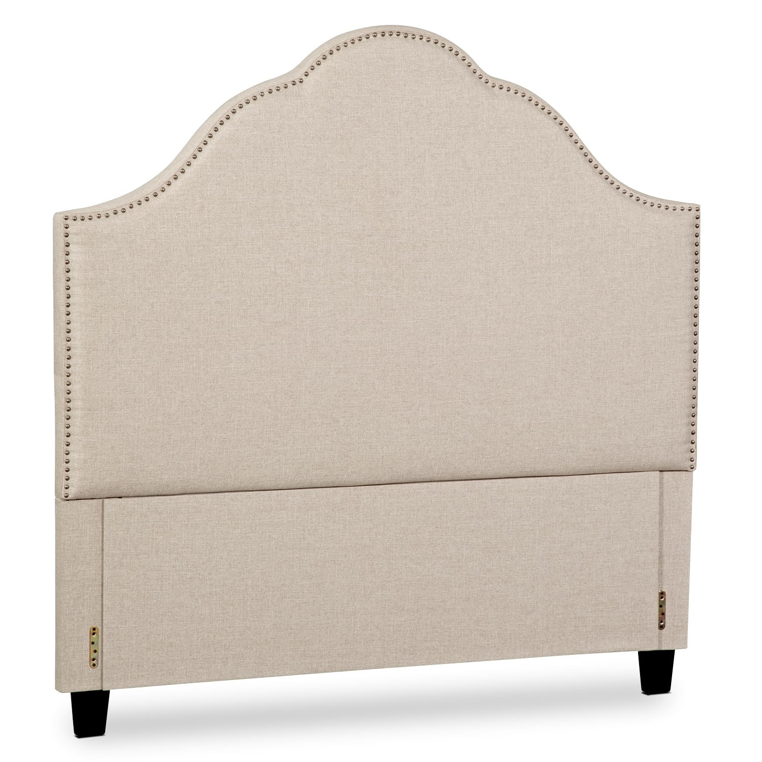 Maya King Upholstered Headboard - Beige