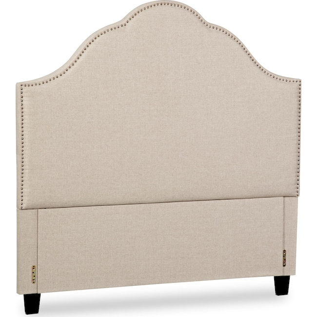 Bedroom Furniture - Maya King Upholstered Headboard - Beige