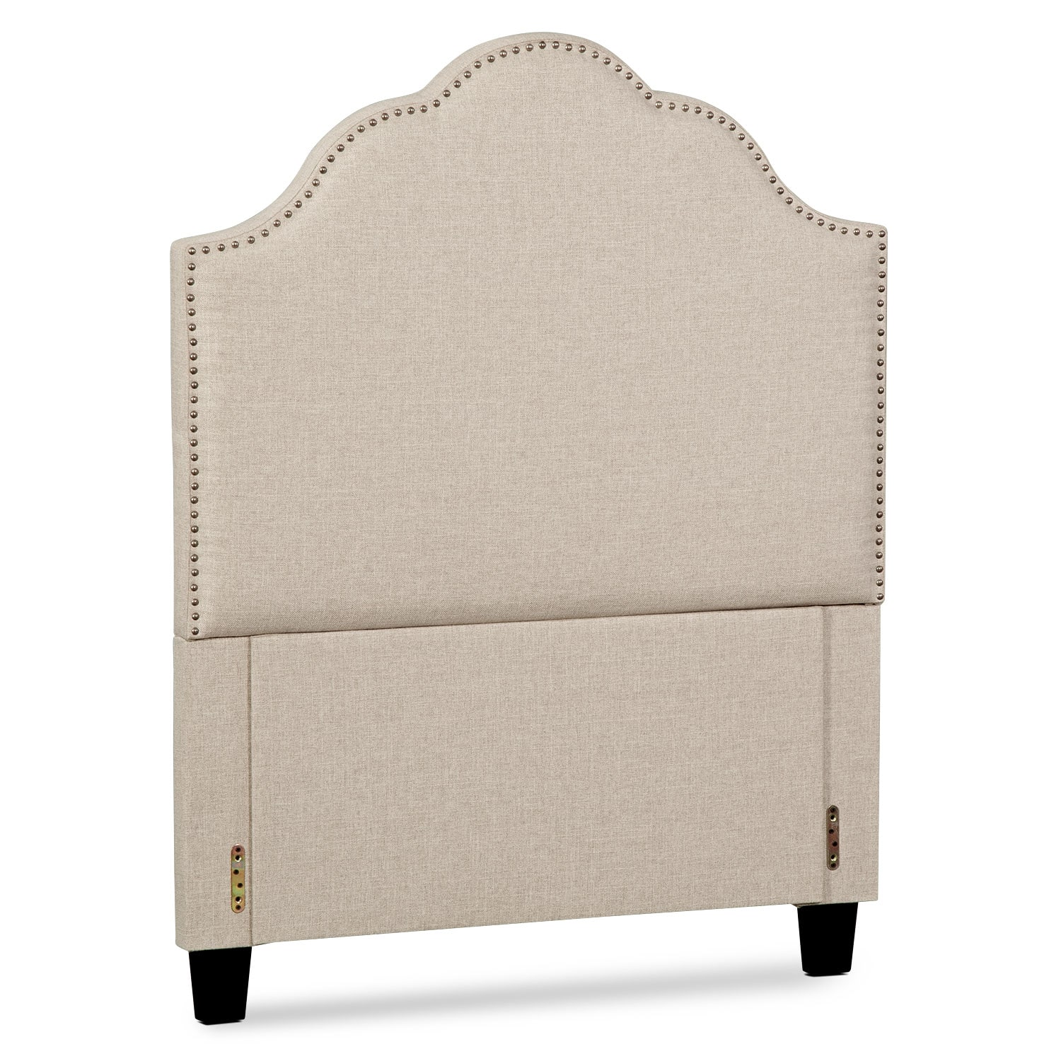 Bedroom Furniture - Maya Twin Upholstered Headboard - Beige