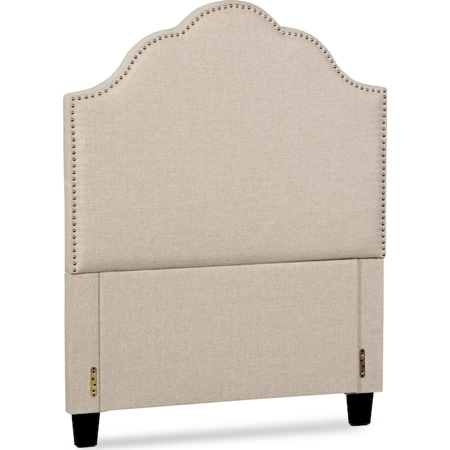 Bedroom Furniture - Maya Full Upholstered Headboard - Beige