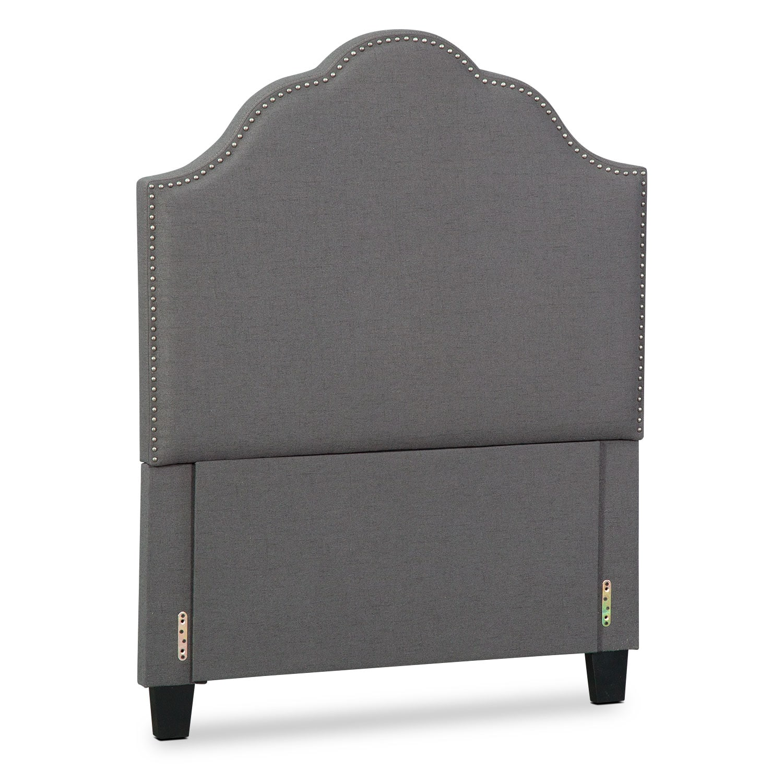 Bedroom Furniture - Maya Full Upholstered Headboard - Gray