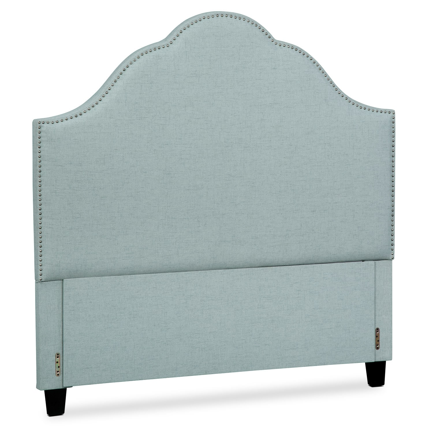 Maya King Upholstered Headboard - Aqua