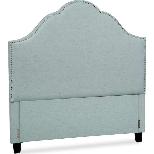 Bedroom Furniture - Maya Queen Upholstered Headboard - Aqua