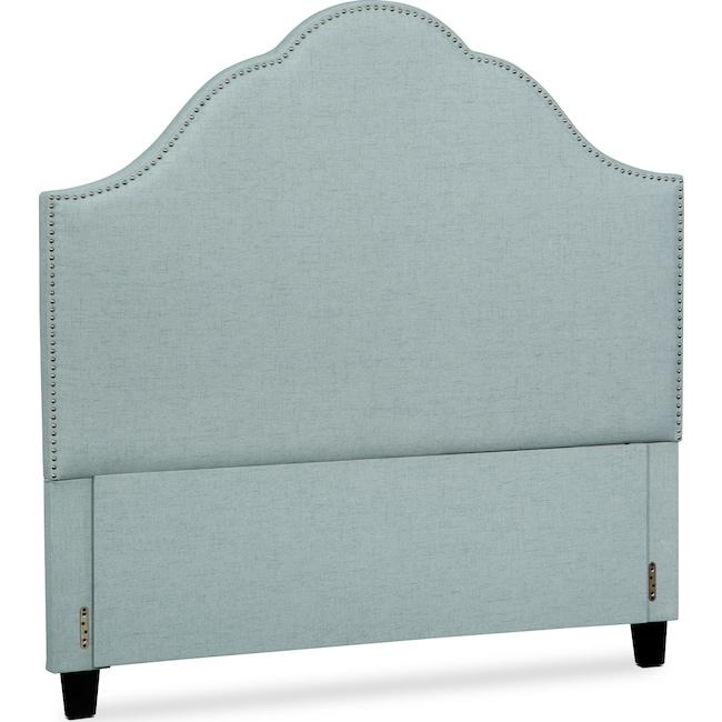 Bedroom Furniture - Maya King Upholstered Headboard - Aqua
