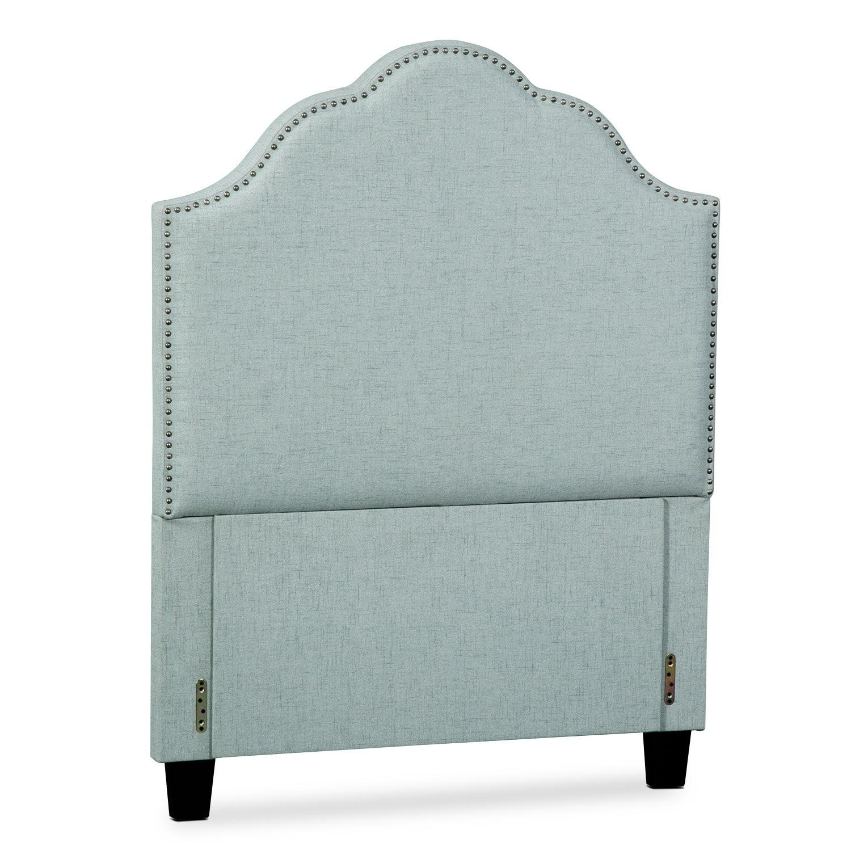 Bedroom Furniture - Maya Twin Upholstered Headboard - Aqua