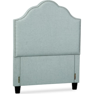 Maya Twin Upholstered Headboard - Aqua