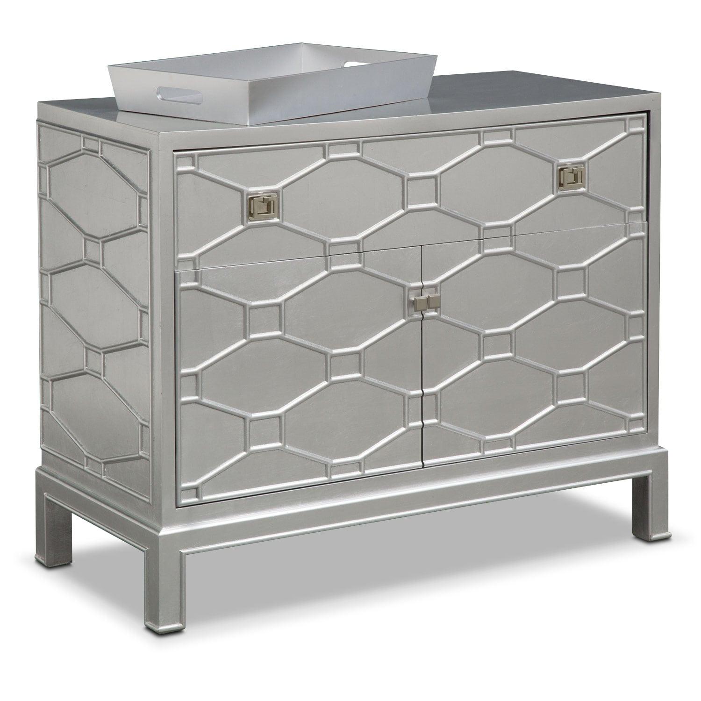 Bedroom Furniture - Erica Bar Cabinet - Silver