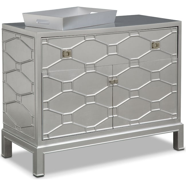 Bedroom Furniture - Erica Bar Cabinet - Silver