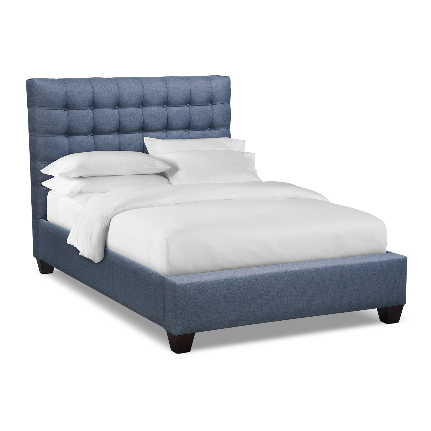 Kylie King Upholstered Bed - Blue