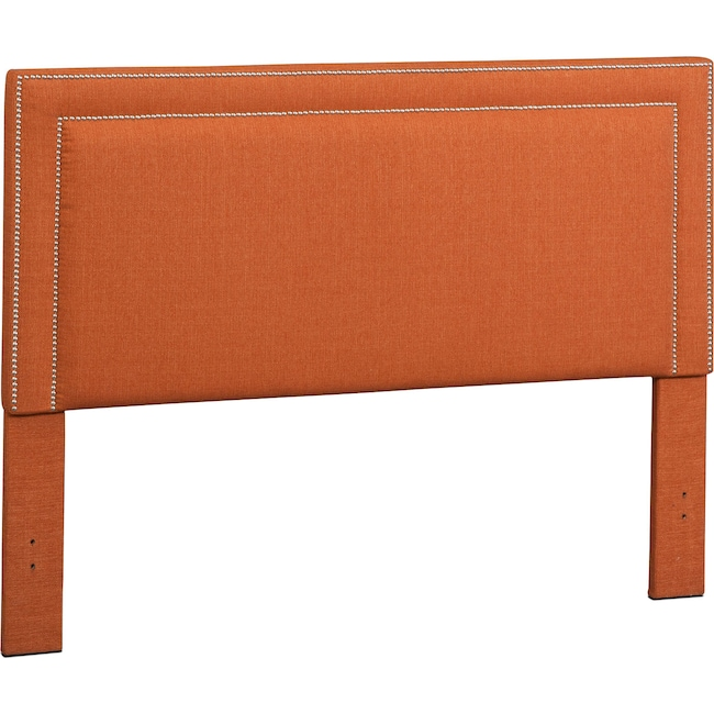 Bedroom Furniture - Natalie Queen Upholstered Headboard - Orange