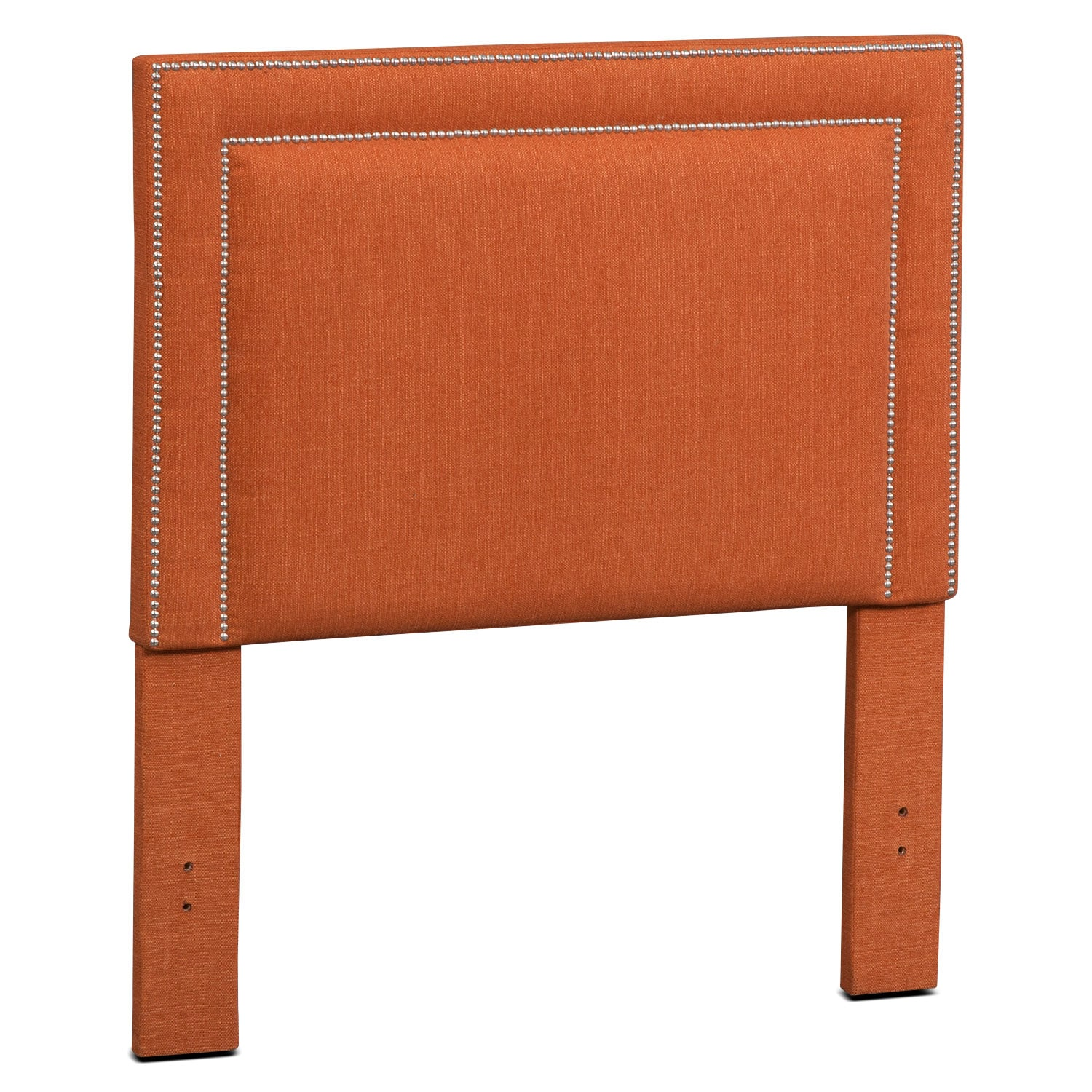 Bedroom Furniture - Natalie Twin Upholstered Headboard - Orange