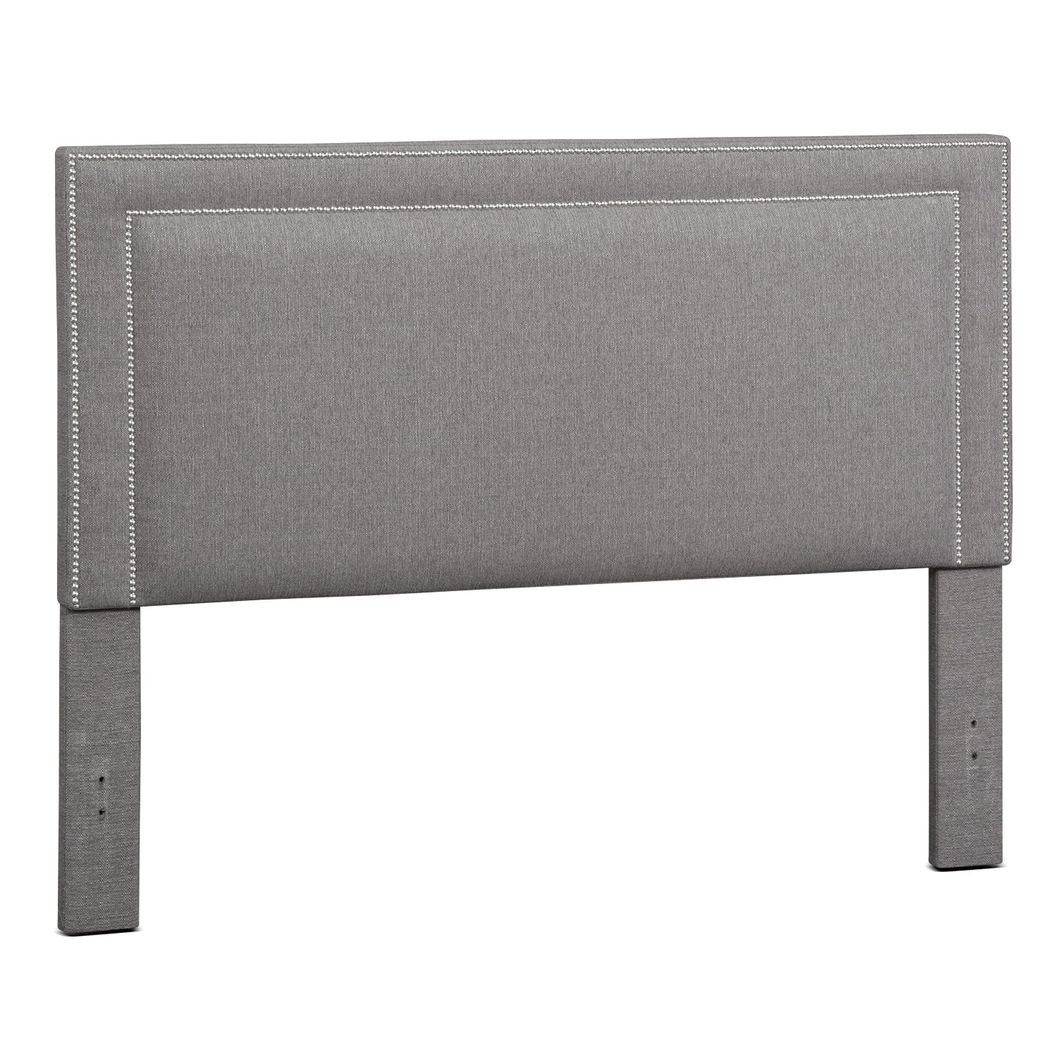Natalie King Upholstered Headboard - Granite