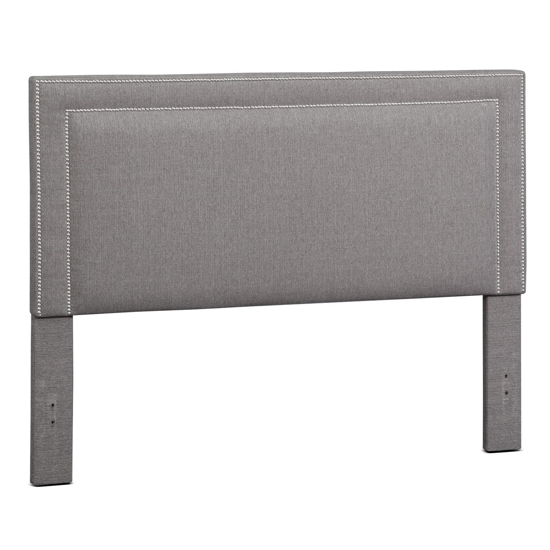 Bedroom Furniture - Natalie Queen Upholstered Headboard - Granite