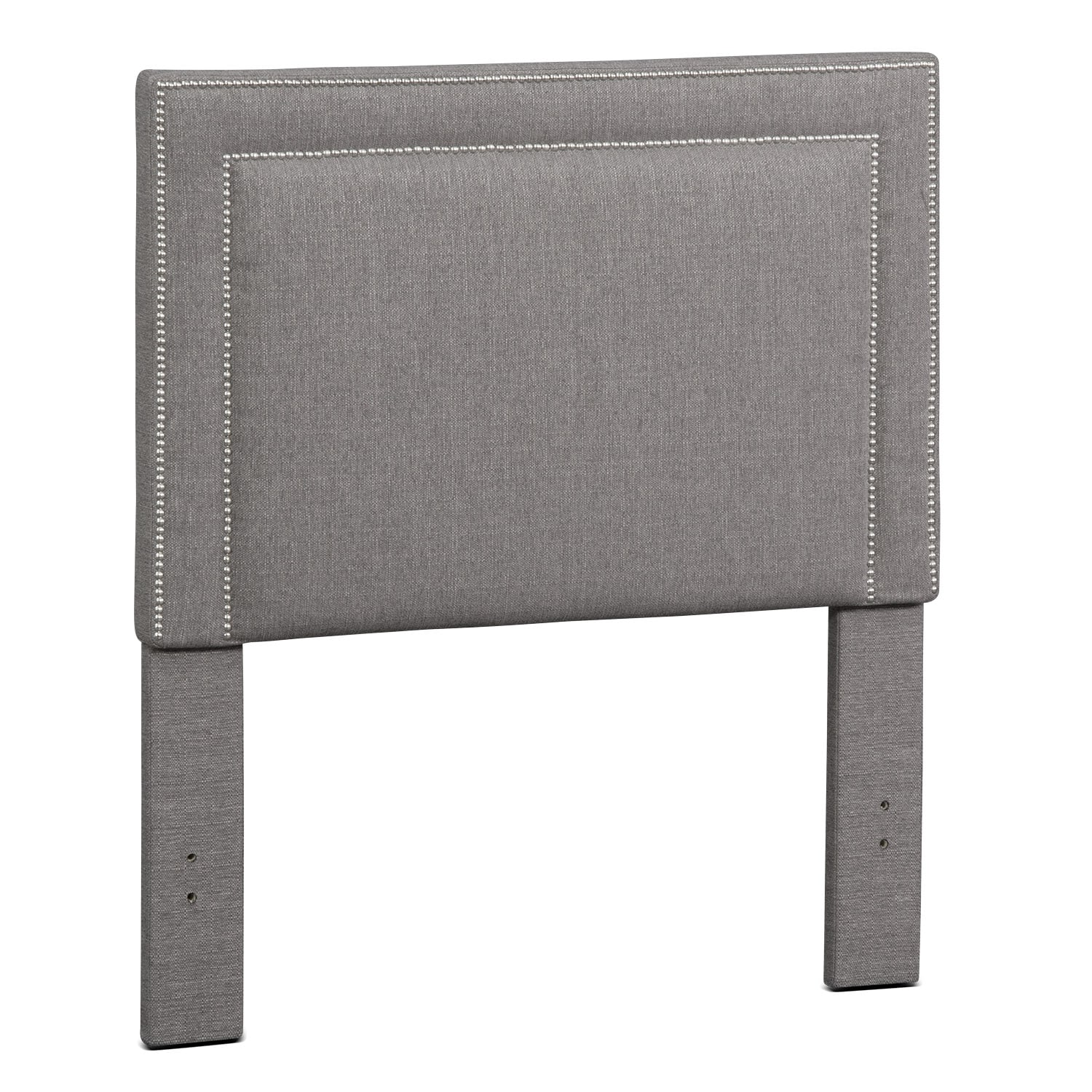 Natalie Full Upholstered Headboard - Granite