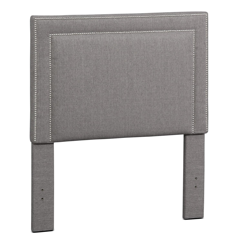 Bedroom Furniture - Natalie Twin Upholstered Headboard - Granite