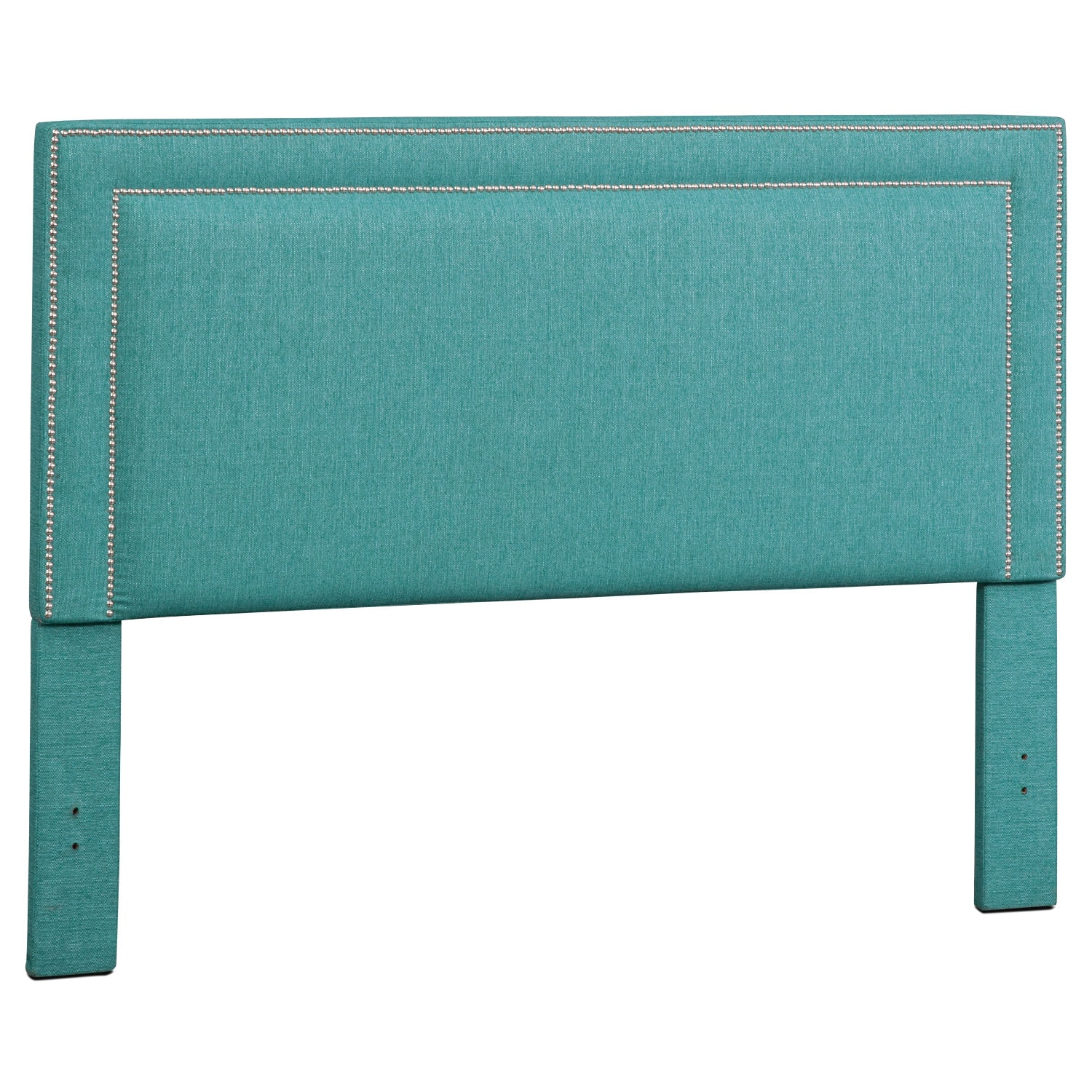 Natalie Queen Upholstered Headboard - Teal
