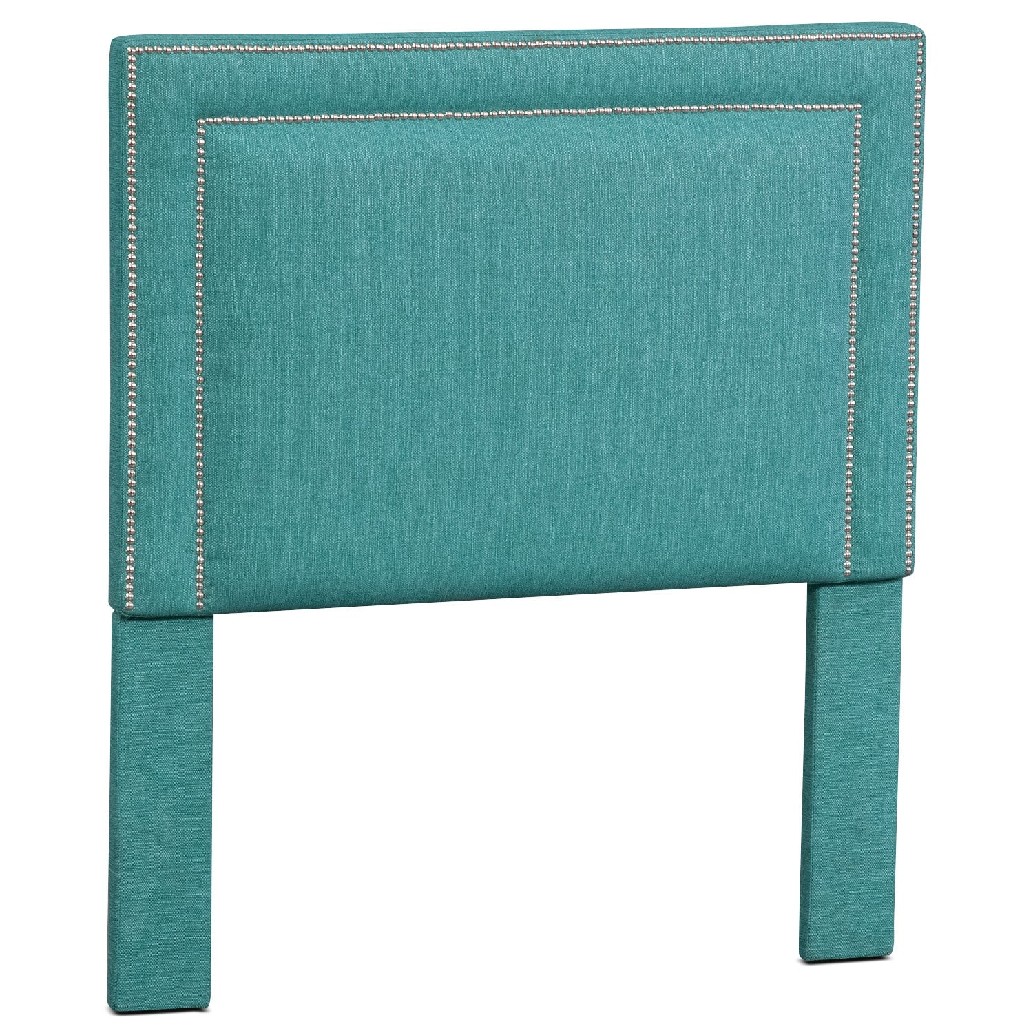 Bedroom Furniture - Natalie Twin Upholstered Headboard - Teal