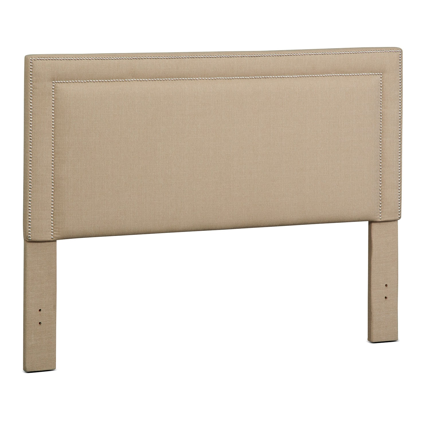 Natalie King Upholstered Headboard - Tan