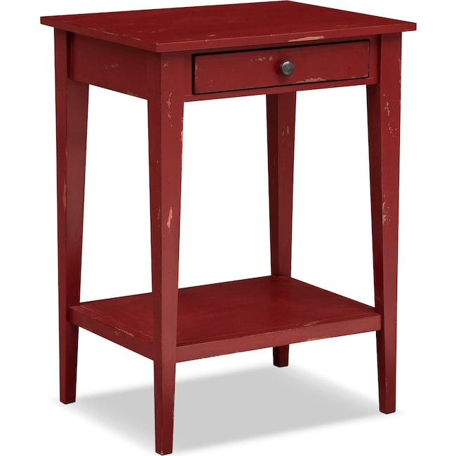 Accent and Occasional Furniture - Anthony End Table - Red
