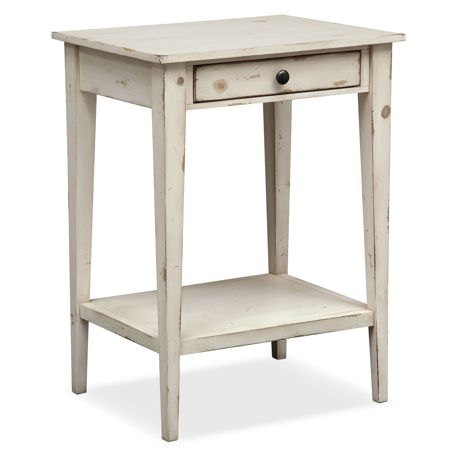 Bedroom Furniture - Anthony End Table - White