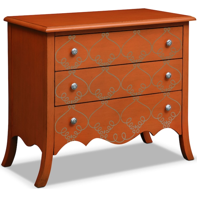 Accent and Occasional Furniture - Miranda Chest - Orange