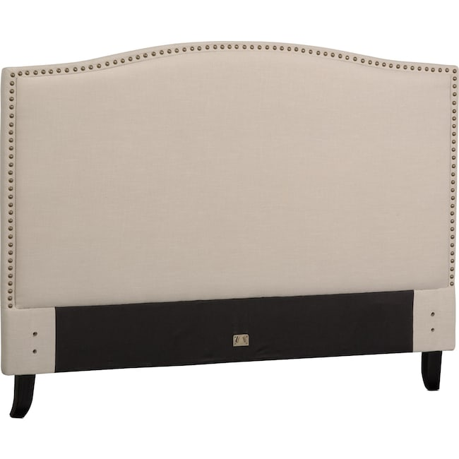 Bedroom Furniture - Aubrey King Upholstered Headboard - Sand