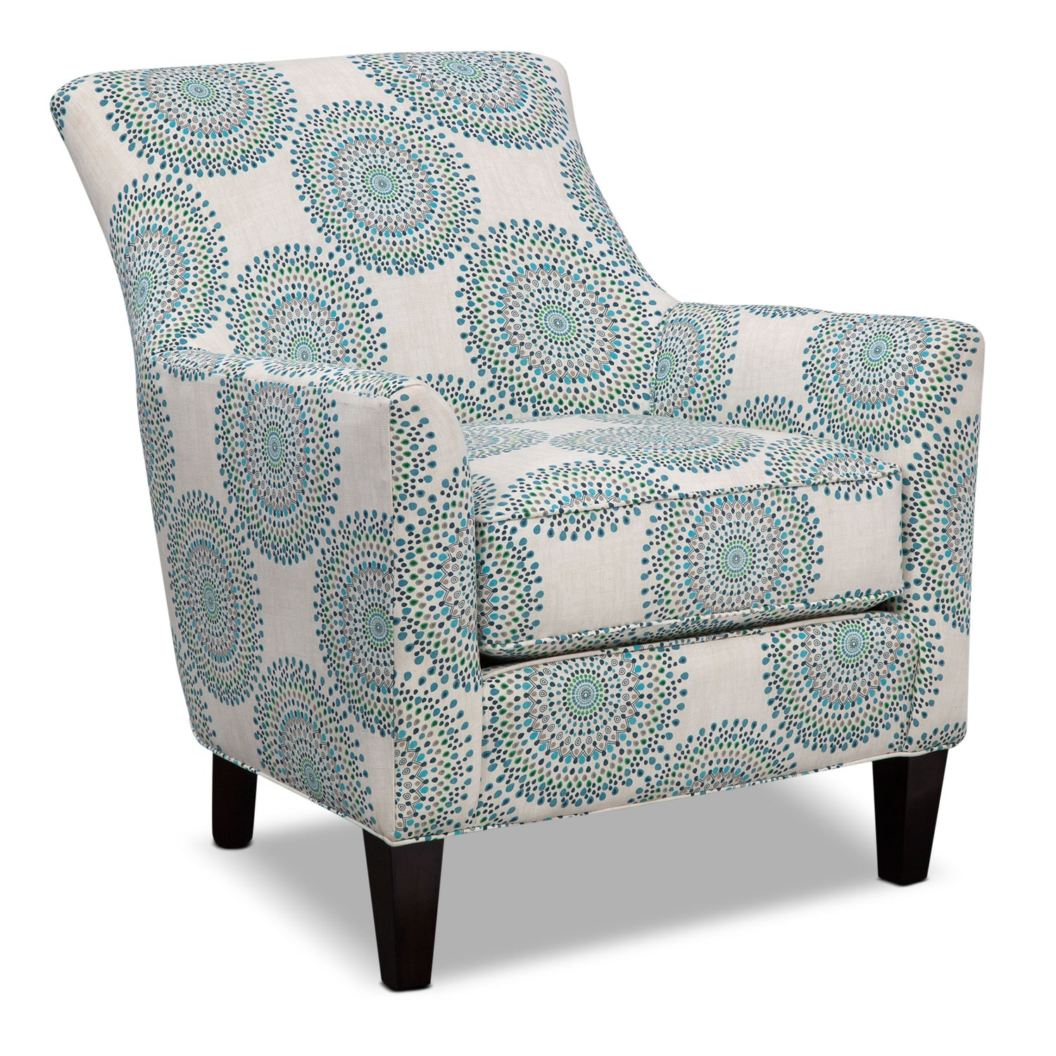 Accent and Occasional Furniture - Rachel Carousel Accent Chair - Blue