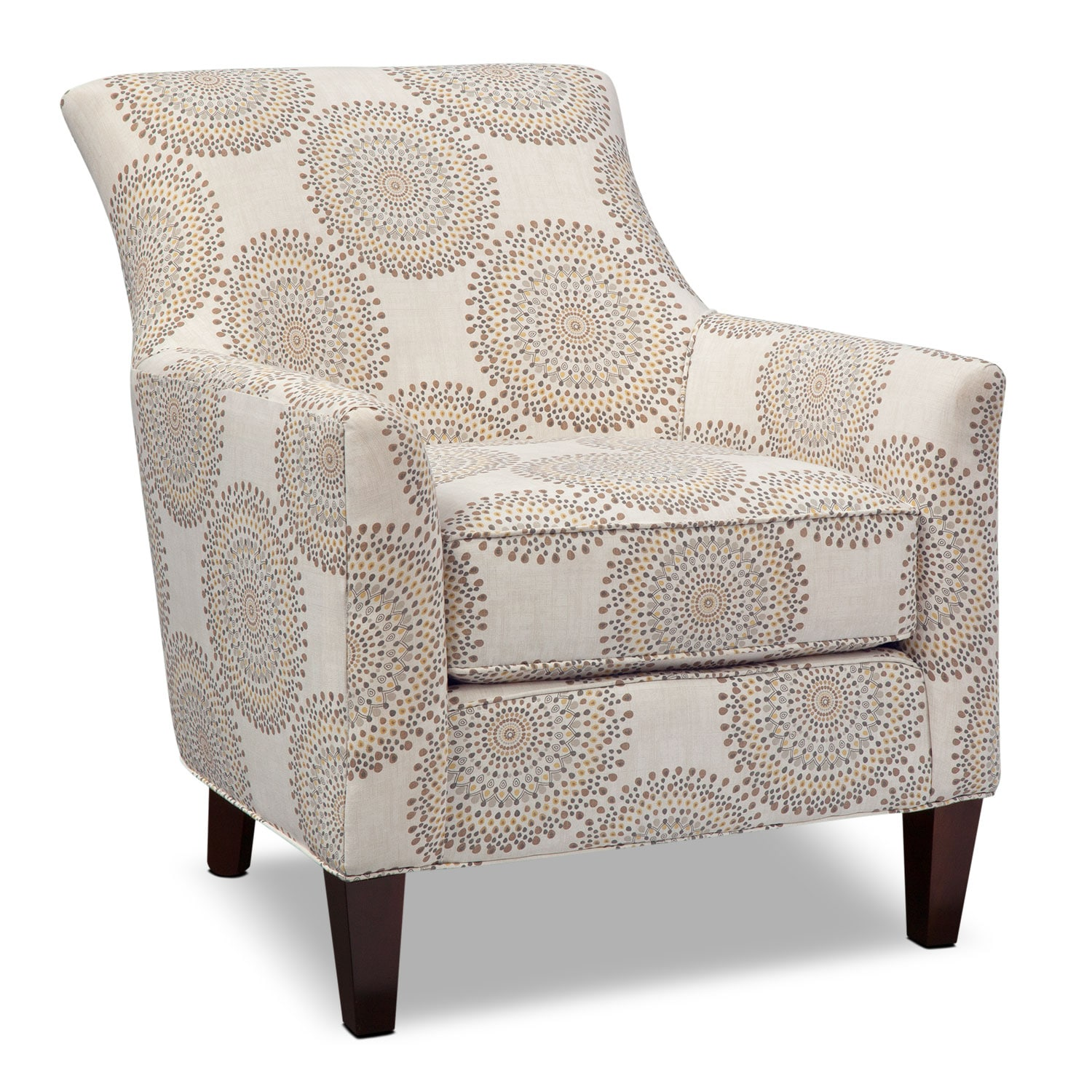 Bedroom Furniture - Rachel Carousel Accent Chair - Sand