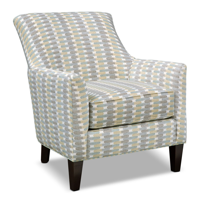 Bedroom Furniture - Rachel Texture Accent Chair - Blue