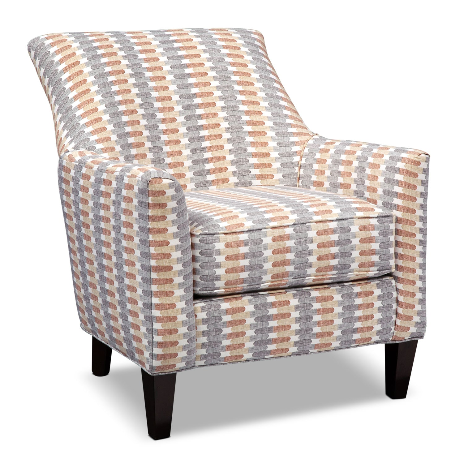 Accent and Occasional Furniture - Rachel Texture Accent Chair - Gray