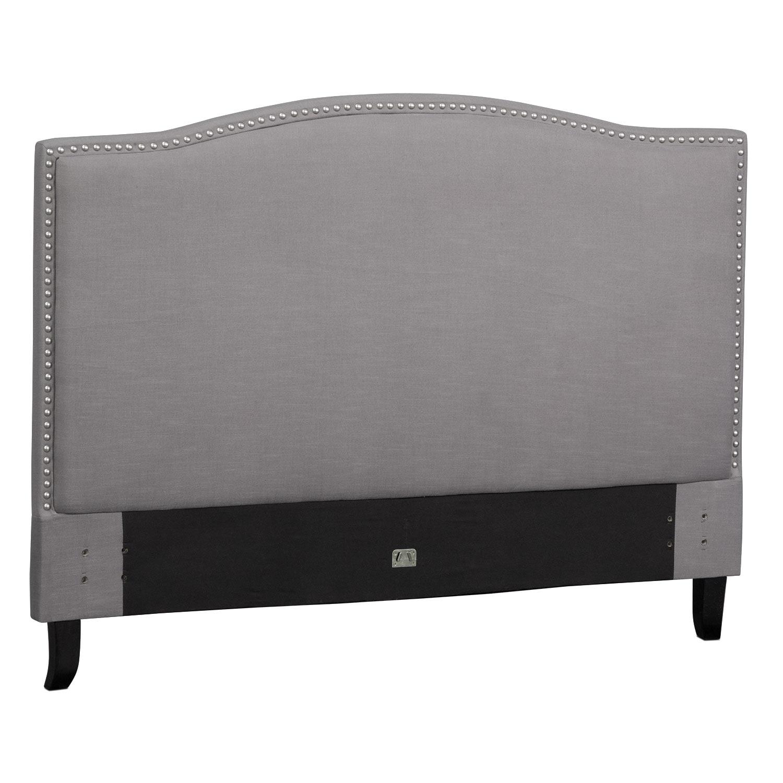 Aubrey Queen Upholstered Headboard - Gray