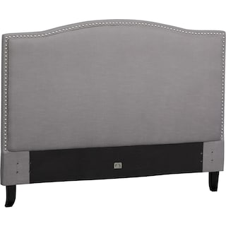Aubrey Queen Upholstered Headboard - Gray