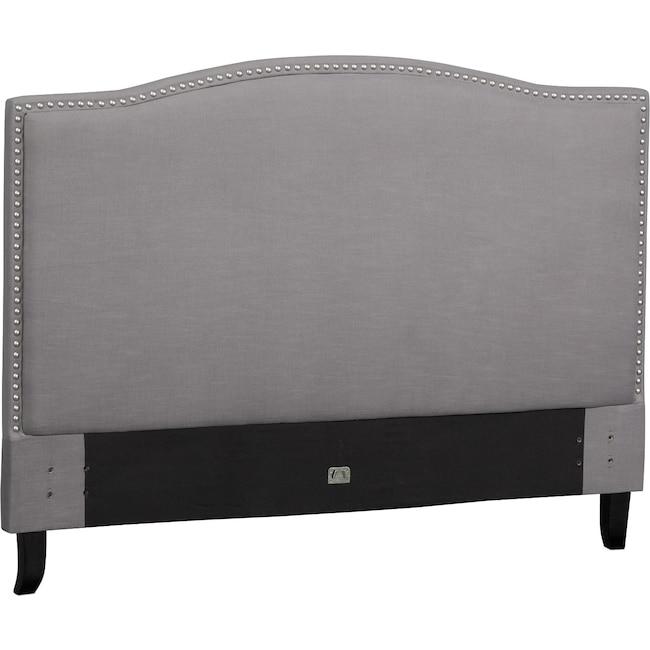 Bedroom Furniture - Aubrey Queen Upholstered Headboard - Gray
