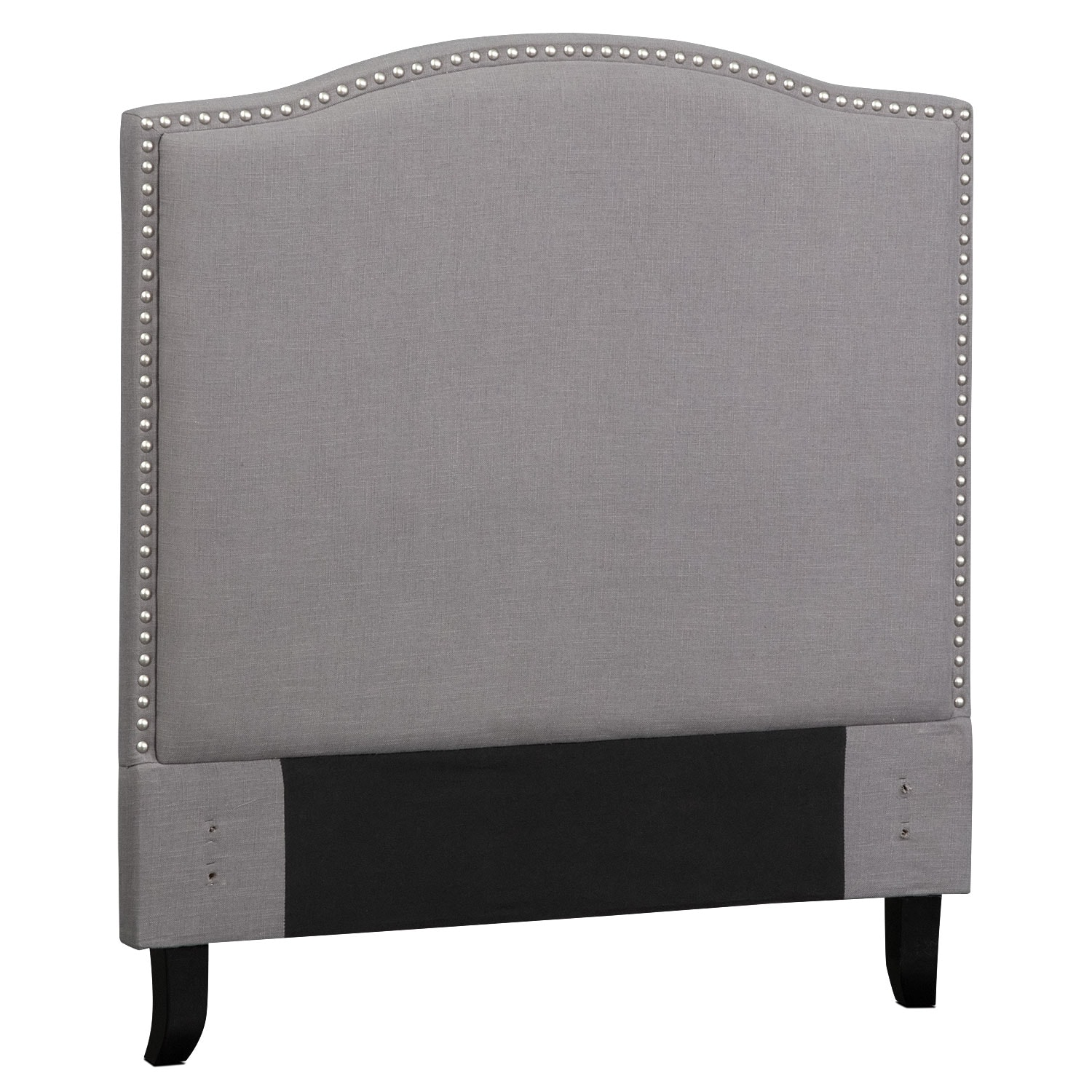 Aubrey twin upholstered headboard gray