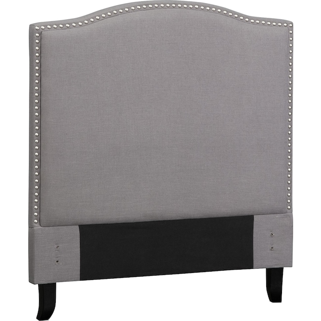 Kids Furniture - Aubrey Twin Upholstered Headboard - Gray