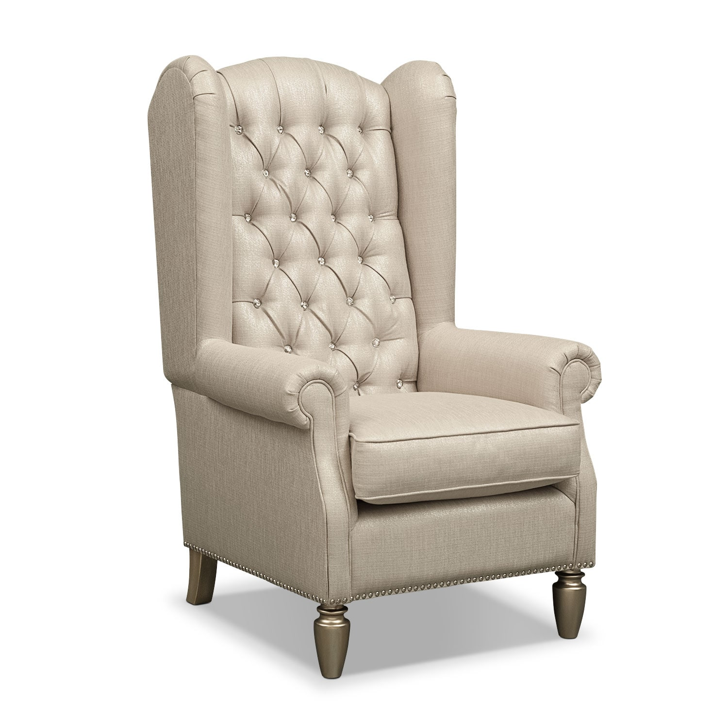 Bedroom Furniture - Cleo Accent Chair - Platinum