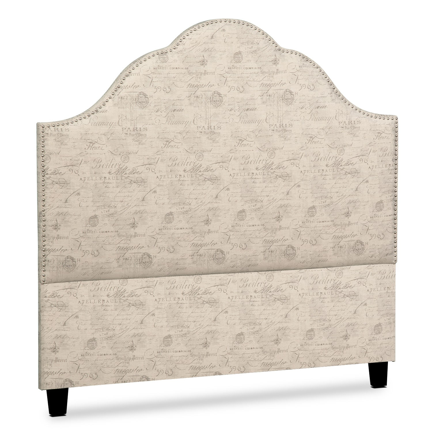 Maya King Upholstered Headboard - Script