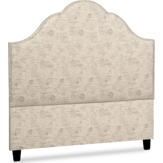 Maya Queen Upholstered Headboard - Script