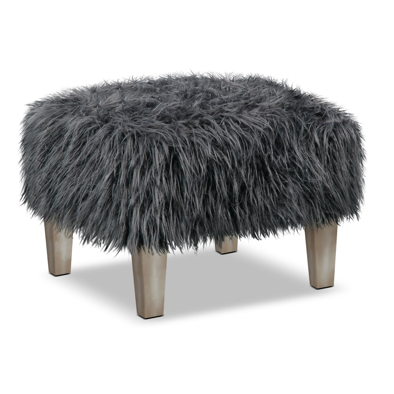 Bedroom Furniture - Westie Accent Ottoman - Gray