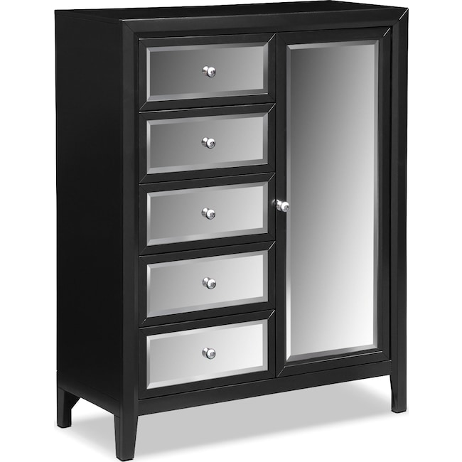 Bedroom Furniture - Bonita Chest - Black