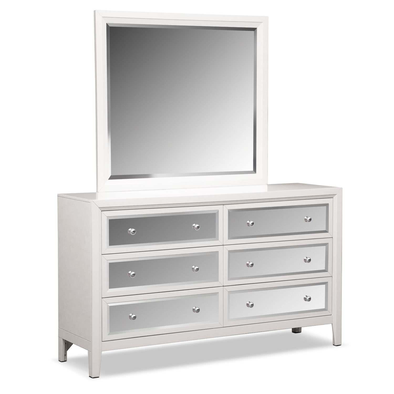 Bedroom Furniture - Bonita Dresser and Mirror - White