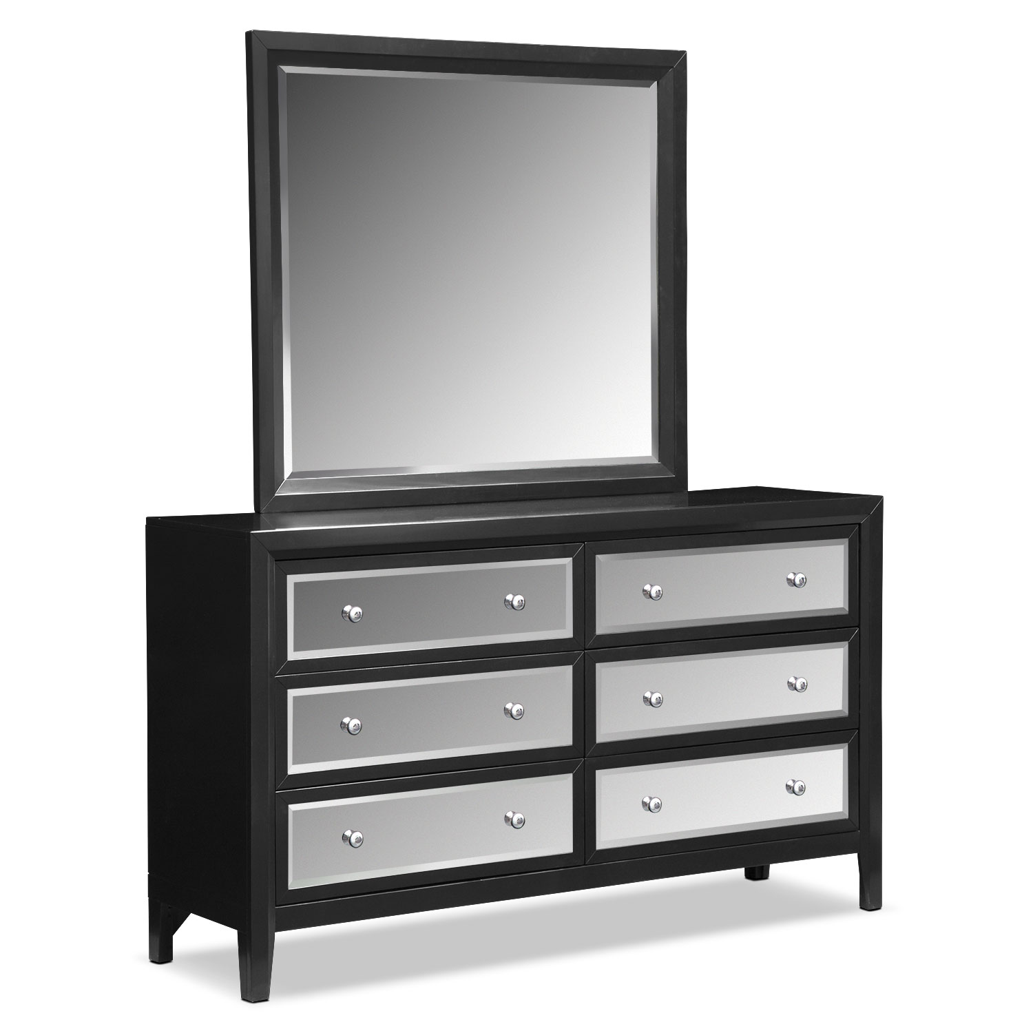 Bonita Dresser And Mirror   Black